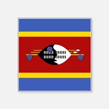 "Swaziland Flag Square Sticker 3"" x 3"""