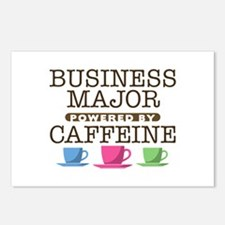 Business Major Powered by Caffeine Postcards (Pack