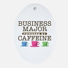 Business Major Powered by Caffeine Oval Ornament