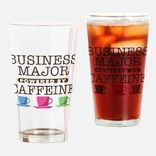 Business Major Powered by Caffeine Drinking Glass