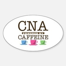CNA Powered by Caffeine Oval Decal