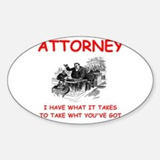 attorney Sticker (Oval)
