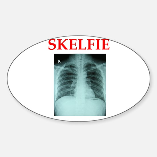 RADIOLOGY JOKE Sticker (Oval)