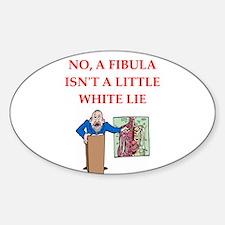 med joke Sticker (Oval)