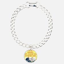 nurse joke Charm Bracelet, One Charm