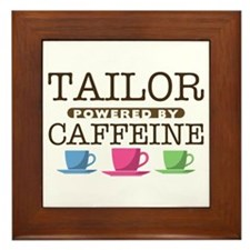 Tailor Powered by Caffeine Framed Tile