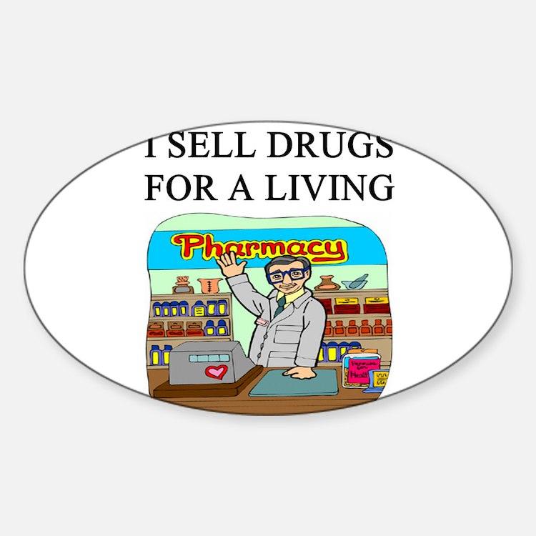 funny pharmacist joke gifts t-shirts Decal