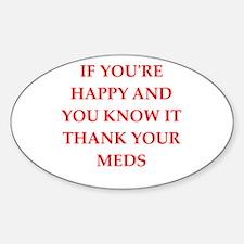 happy Sticker (Oval)