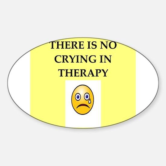 manic depressive Sticker (Oval)