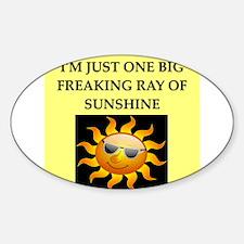 ray of sunshine Sticker (Oval)