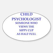 child psychologist Sticker (Oval)