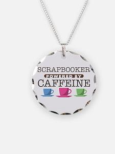 Scrapbooker Powered by Caffeine Necklace
