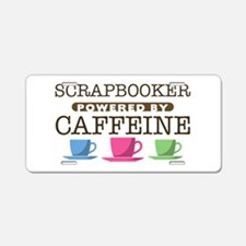 Scrapbooker Powered by Caffeine Aluminum License P