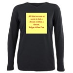 edgar allan poe quote Plus Size Long Sleeve Tee