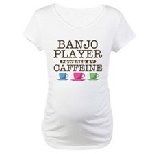 Banjo PLayer Powered by Caffeine Shirt