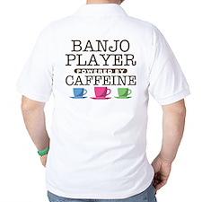 Banjo PLayer Powered by Caffeine T-Shirt