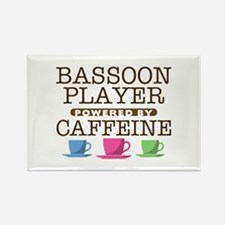 Bassoon Player Powered by Caffeine Rectangle Magne