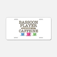 Bassoon Player Powered by Caffeine Aluminum Licens