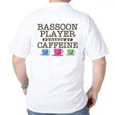 Bassoon Player Powered by Caffeine T-Shirt
