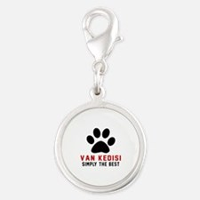 Van kedisi Simply The Best Cat Silver Round Charm