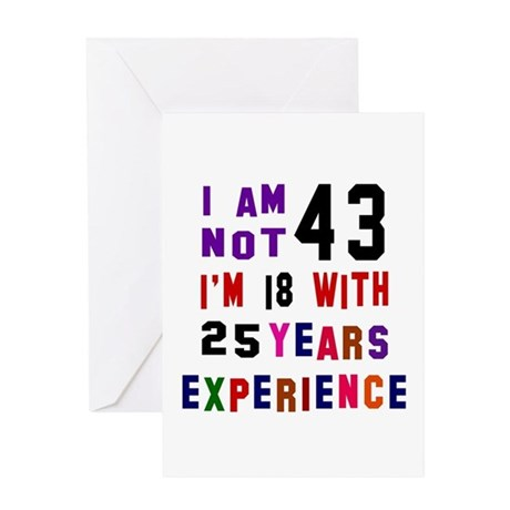 43 Birthday Designs Greeting Card By Coolfashiontees