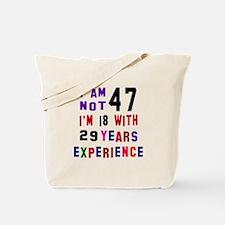 47 Birthday Designs Tote Bag