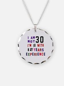 30 Birthday Designs Necklace