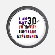 30 Birthday Designs Wall Clock