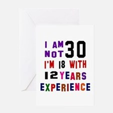 30 Birthday Designs Greeting Card