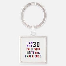 30 Birthday Designs Square Keychain