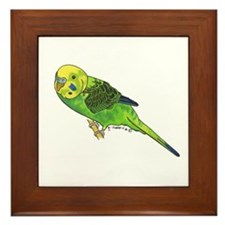 Green Keet Framed Tile