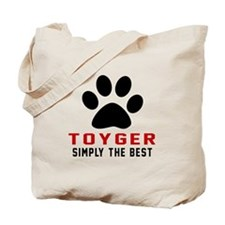 Toyger Simply The Best Cat Designs Tote Bag