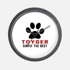 Toyger Simply The Best Cat Designs Wall Clock