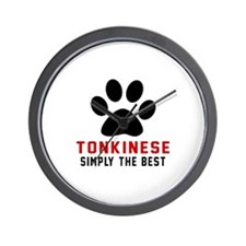 Tonkinese Simply The Best Cat Designs Wall Clock