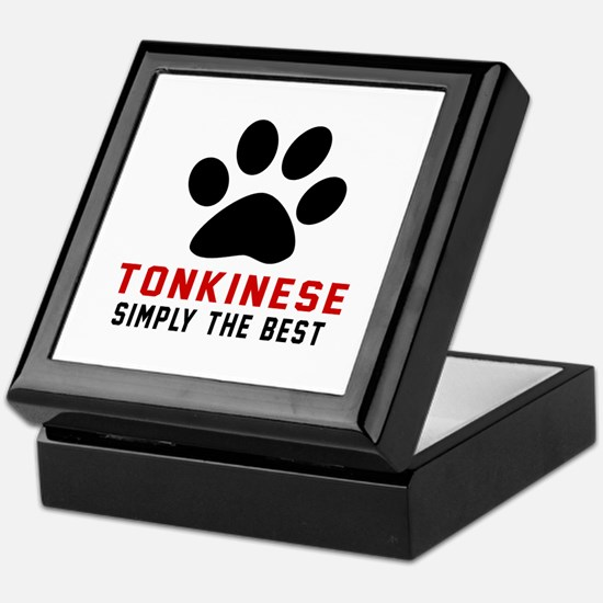 Tonkinese Simply The Best Cat Designs Keepsake Box