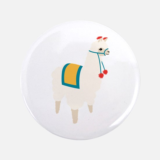 "Alpaca Animal 3.5"" Button (100 pack)"