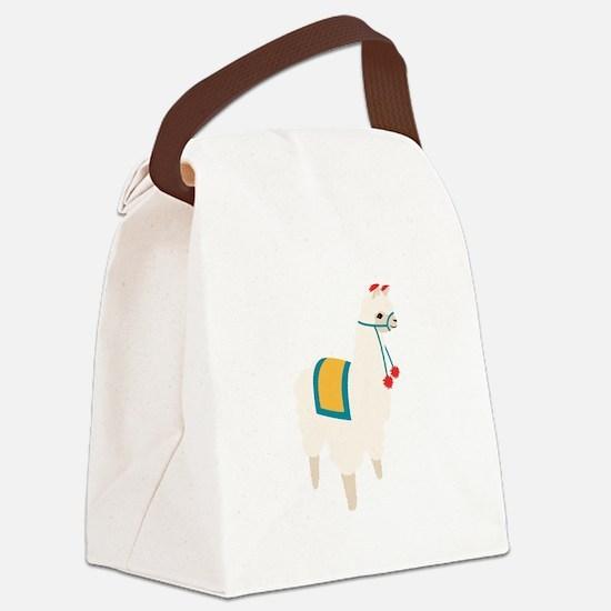 Alpaca Animal Canvas Lunch Bag