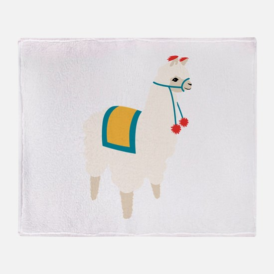 Alpaca Animal Throw Blanket
