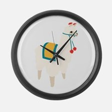 Alpaca Animal Large Wall Clock