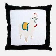 Alpaca Animal Throw Pillow