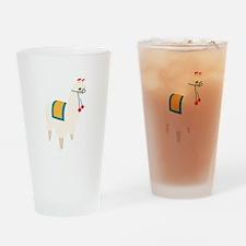 Alpaca Animal Drinking Glass