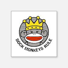 """Unique Cute monkeys Square Sticker 3"""" x 3"""""""