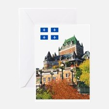 Frontenac Castle and Flag Greeting Card