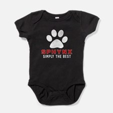 Sphynx Simply The Best Cat Designs Baby Bodysuit