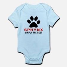 Sphynx Simply The Best Cat Designs Infant Bodysuit