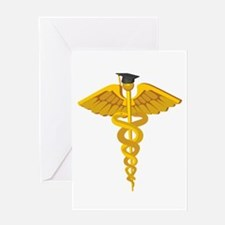 Doctor, nurse, medical gradua Greeting Card