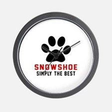 Snowshoe Simply The Best Cat Designs Wall Clock