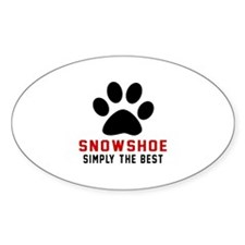 Snowshoe Simply The Best Cat Design Decal