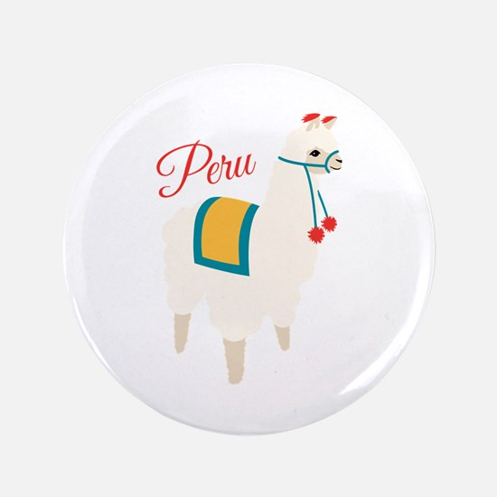 "Peru Alpaca 3.5"" Button (100 pack)"