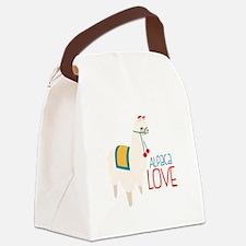 Alpaca Love Canvas Lunch Bag